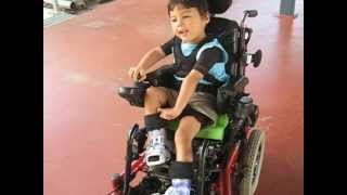 Jalen in Motorised Chair at Kindy