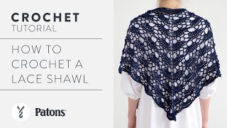 Crochet Lace Shawl Pattern Tutorial   Make The Gorgeous Yes Yes Shawl!