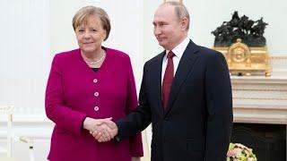 Rozmowy Władimira Putina z kanclerz federalną Niemiec Angelą Merkel 20.08.21-nagranie na zywo w j.rosyjskim i niemieckim