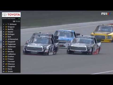 NASCAR Camping World Truck Series 2018. Michigan International Speedway. Last Laps