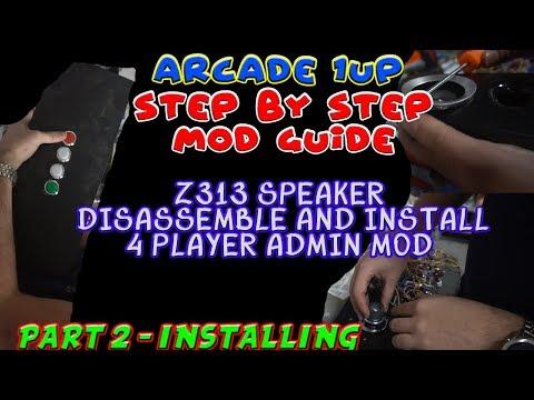 Arcade1up Mame Mod / Speaker Upgrade Part 1 - смотреть