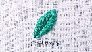 Embroider Leaves With The Fishbone Stitch