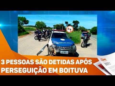 3 pessoas são detidas após perseguição em Boituva - TV SOROCABA/SBT