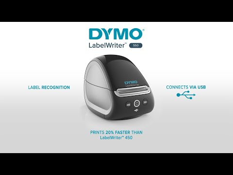 Imprimanta termica etichete DYMO LabelWriter 550, senzor recunoastere eticheta, aparat de etichetat, priza EU 2112722