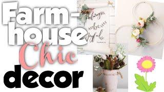 Dollar Tree Farmhouse Chic Decor   Farmhouse Chic DIYs   Farmhouse Decor On A Budget