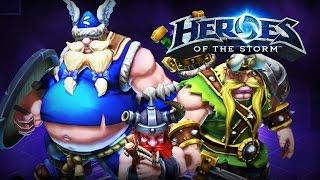 ♥ Heroes of the Storm (Gameplay) - Lost Vikings... Healing Build...?