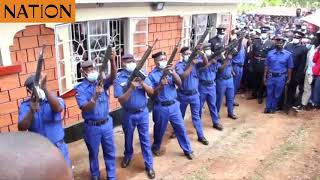 Police officers pay last respects to Constable John Ogweno