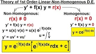 variation of parameters differential equations first order