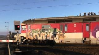 preview picture of video 'AŽD 71 časť II., ZSSK Pantograf 560 Levice - Nové Zámky. Slovensko, Slovakia.'
