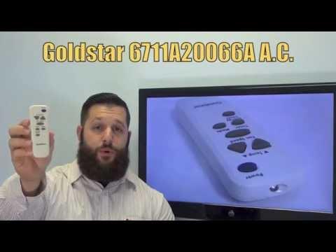 GOLDSTAR 6711A20066A Air Conditioner Unit Remote Control