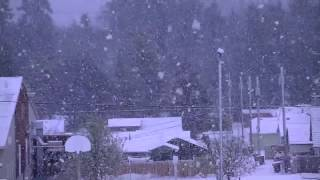IT IS SNOWING IN PORT ANGELES WASHINGTON