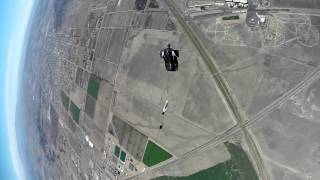 wing suit deployment in slow-motion
