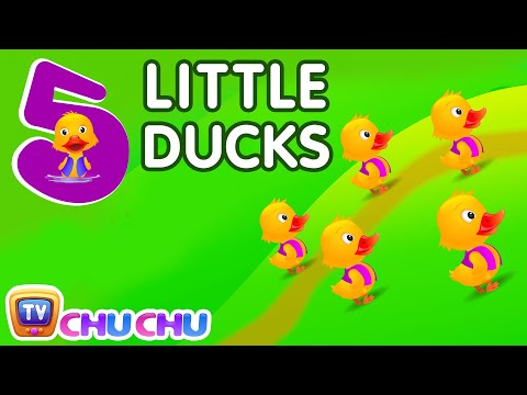 Download Five Little Ducks Nursery Rhyme With Lyrics - Cartoon Animation Rhymes & Songs for Children HD Mp4 3GP Video and MP3