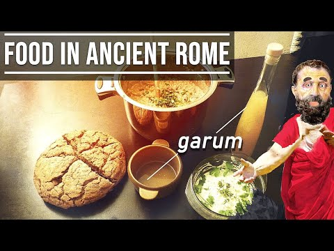 What did the Ancient Romans eat? - Garum, Puls, Bread, Moretum
