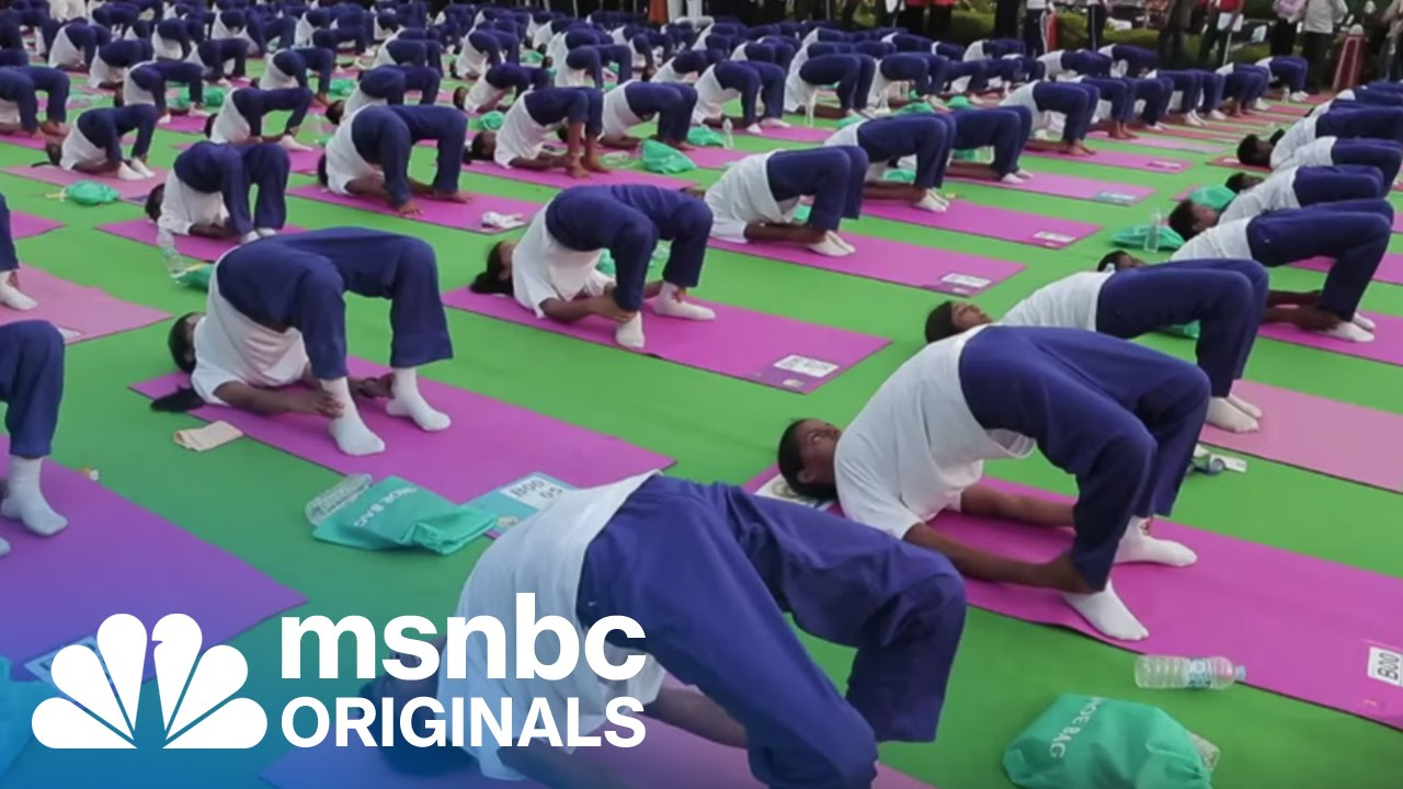 India Breaks Yoga World Record | Originals | msnbc thumbnail