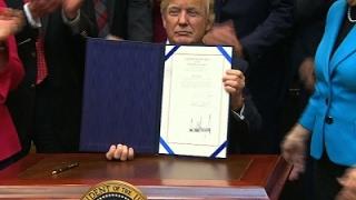 Trump Signs 4 Bills Rolling Back Regulations