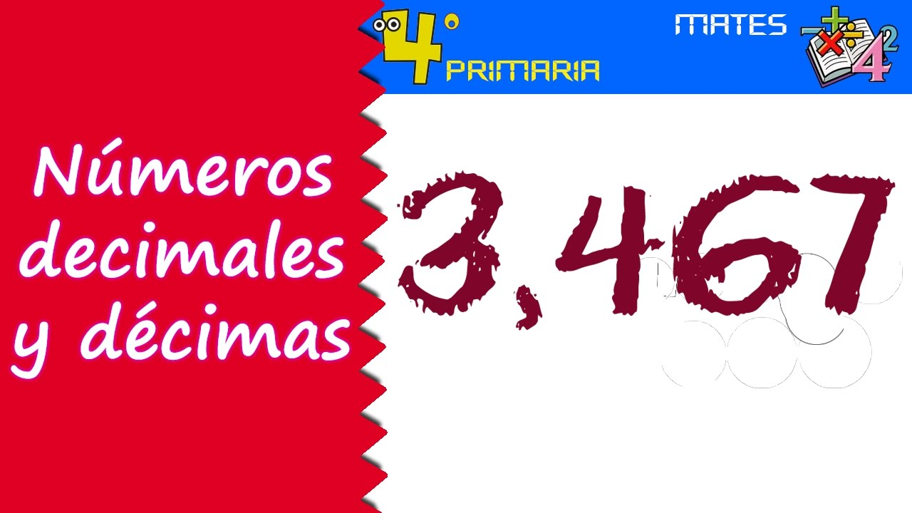 Matemáticas. 4º Primaria. Tema 5. Números decimales: las décimas