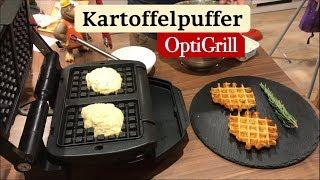 Kartoffelpuffer Waffeln im Tefal OptiGrill (Waffeleinsatz)