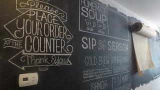 Iron Roost Chalkboard Wall Timelapse