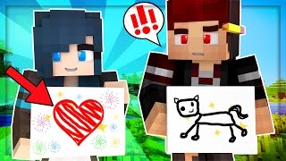 Yandere High School - PAINTING OUR FEELINGS! ART CLASS! [S2: Ep.33 Minecraft Roleplay]