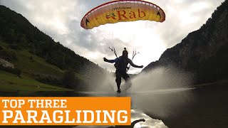TOP THREE PARAGLIDING, SPEEDFLYING AND SPEEDRIDING   PEOPLE ARE AWESOME