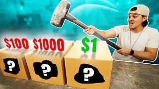 $1 Vs. $1000 Dollar Mystery Box Challenge!