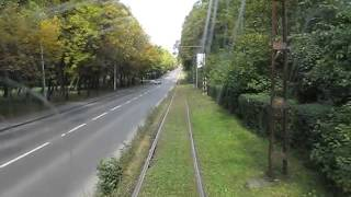 preview picture of video 'Scenes from a trip with tramway line 9 of Tramwaje Śląskie'