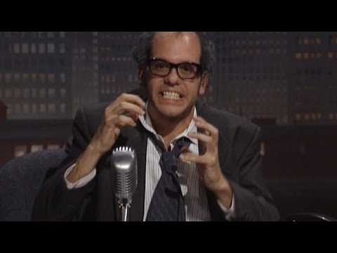 the last time I cried until tears was because of this bit, David Cross hosts a pretaped call-in show. Mr Show