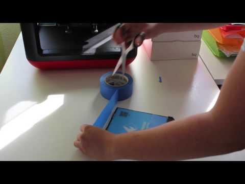 Bessere Haftung der 3D-Druck Plattform mit blauem Tape