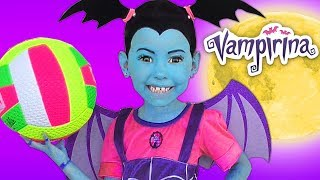 Junior Vampirina and Alice become Best Friends & Pretend Play with Color Ball
