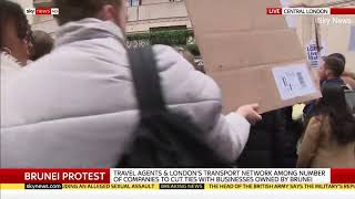Video: Brunei: Protest Against Sultan's LGBT Laws Seen At Dorchester Hotel