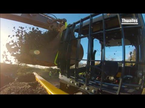 Thwaites dumper cab impact test