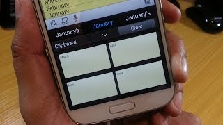 Accessing the clipboard on Samsung Galaxy S4