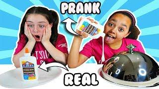 REAL VS PRANK SLIME CHALLENGE!!
