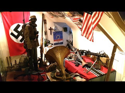 WW2 Room Collection Tour - My Crazy Hobby - Weapons, Relics, Helmets and more WWII History!
