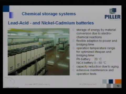 2008 - Système d'alimentation électrique sans interruption à énergie cinétique par G. Lafont de chez Piller (part 1/5)