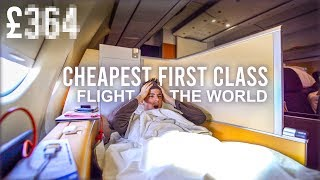 The Cheapest First Class Flight in the World & it ONLY cost £....