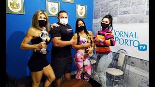 Atletas vencedoras do bodybuilder na redação do Jornal do Porto