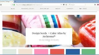 Https://www.design-seeds.com/. Para Los Amantes Del Colores. Seleccionar Paleta De Colores.