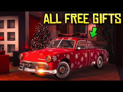 GTA Online ALL FREE CHRISTMAS GIFTS! Free Car, Free Helicopter & Free Exclusive Sweaters!