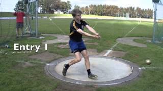 HAMMER Coaching observations of 2 young throwers by D.Poppé (A.NOBILO vs S. GREGORY)