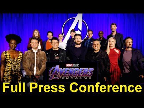 Marvel's Avengers: Endgame FULL Press Conference with Robert Downey Jr, Chris Evans, Brie Larson +
