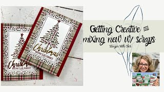 Pine Wood Dies, Plaid Tidings & Using Up Your Scraps to Start Your Christmas Cards!
