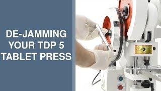 Tablet Pill Press - How to de-jam a TDP 5