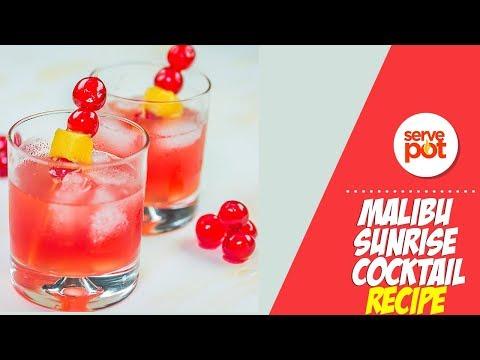 Learn How To Make Malibu Sunrise Cocktail