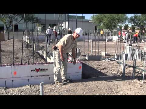 Fox Blocks How to Layout Scaffold on Insulated Concrete Form Walls