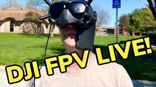 Flying DJI FPV LIVE❗️