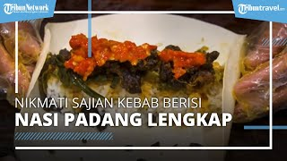 Nikmati Sajian Kebab Isi Nasi Padang, Kuliner Unik di Pasar Santa Jakarta Selatan
