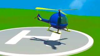 Videos Para Niños - Helicoptero Para Niños -  Aeropuerto