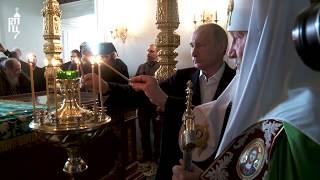 Патриарх Кирилл совершил Литургию в Валаамском монастыре